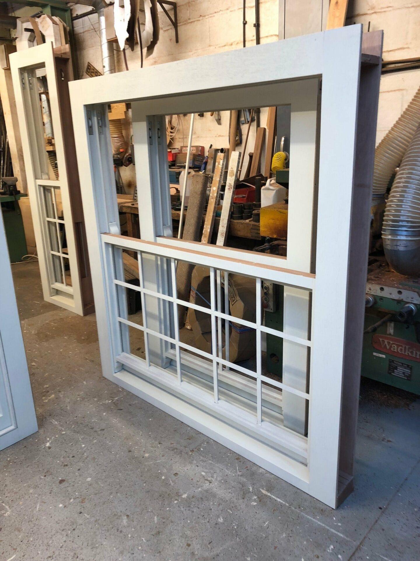Hardwood sash window - chelsea, London