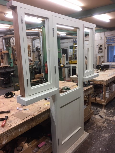 Hardwood Door and Sidelights - Essex