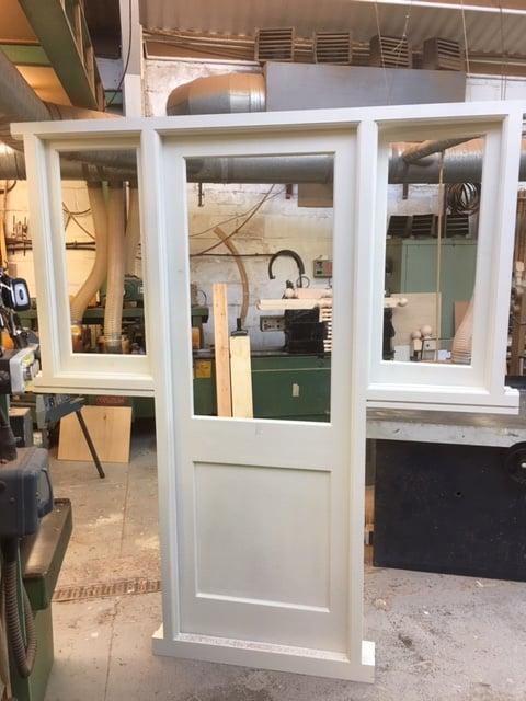 Hardwood Door and Sidelights