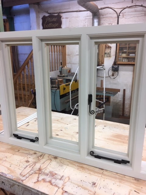 Softwood double glazed window