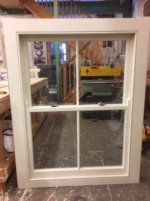 Softwood sash window