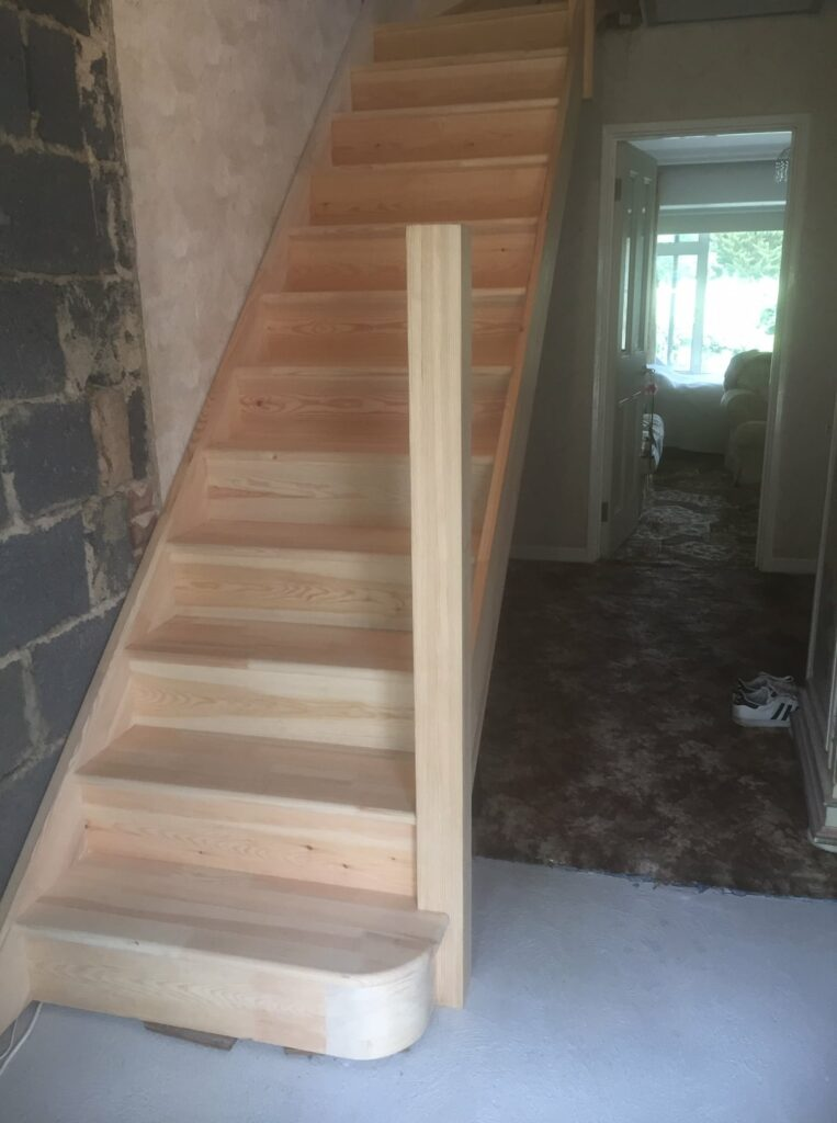 Softwood purpose made staircase - Hertford 1
