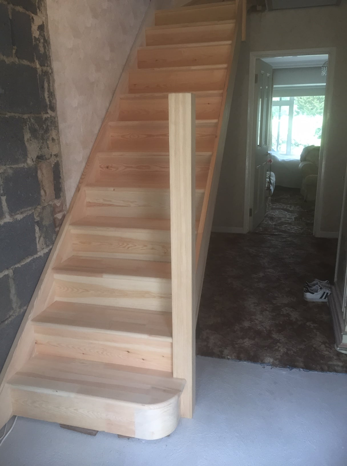 Softwood purpose made staircase
