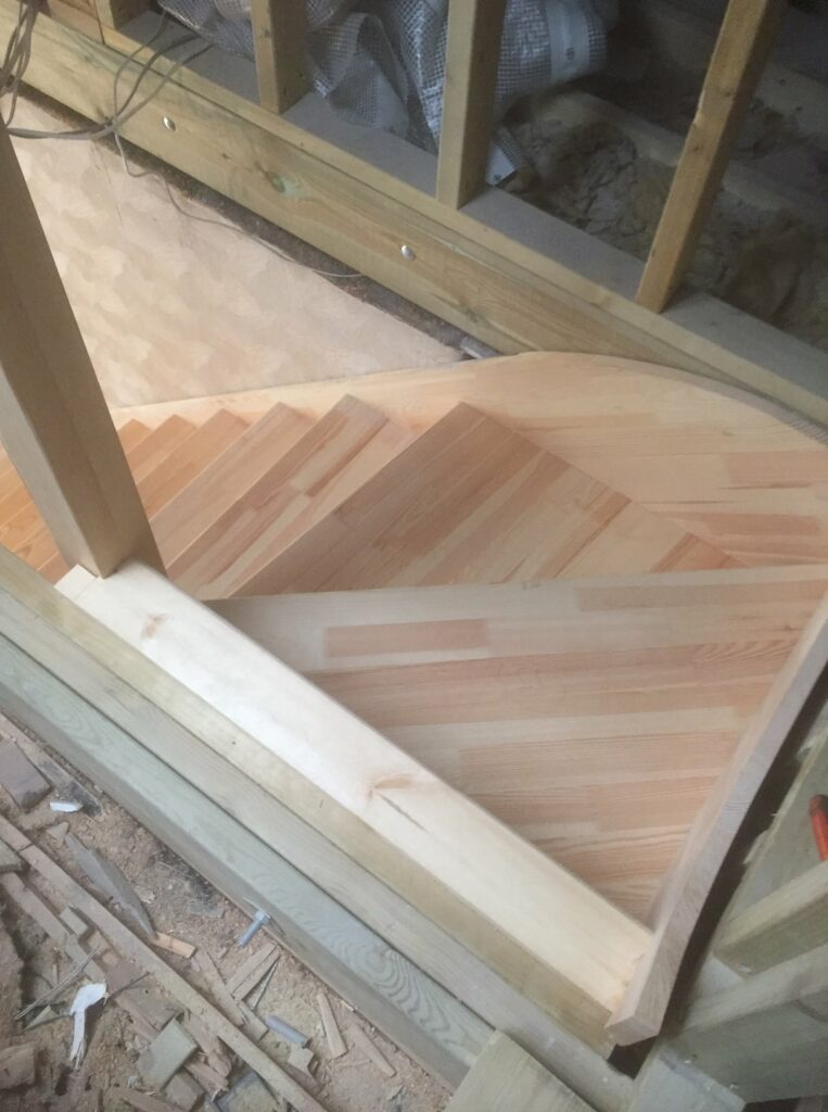 Softwood purpose made staircase - Hertford 5