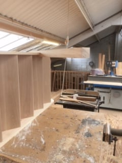 Purpose made oak tread staircase - Hertfordshire 2