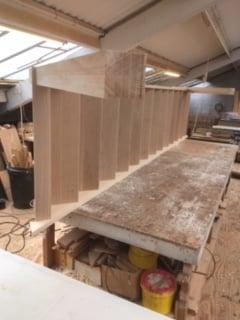 Purpose made oak tread staircase - Hertfordshire 6