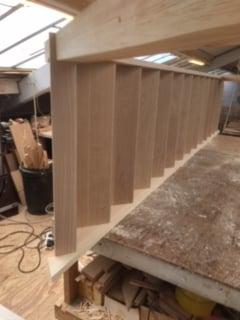 Purpose made oak tread staircase - Hertfordshire 7